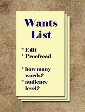 wants list
