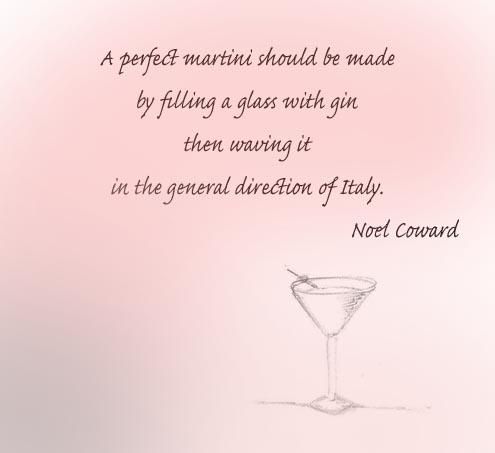 A perfect martini
