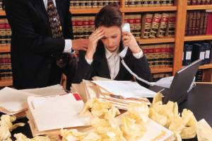 legal team stressed