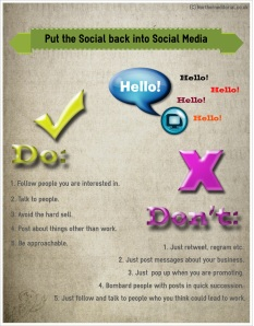Put the social back into social media tick list infographic