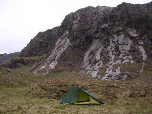 Camping at Head of Fionn Loch
