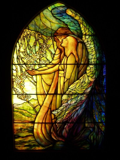 Tiffany Guiding Angel Stained Glass
