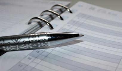 pen, calendar, appointment