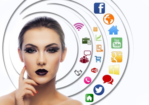 woman, networking, social media, network