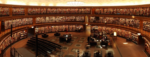 massive library full of books