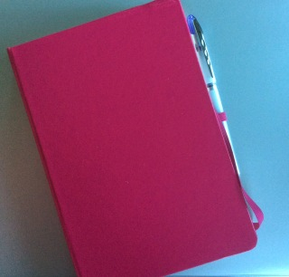 Pink journal, notebook