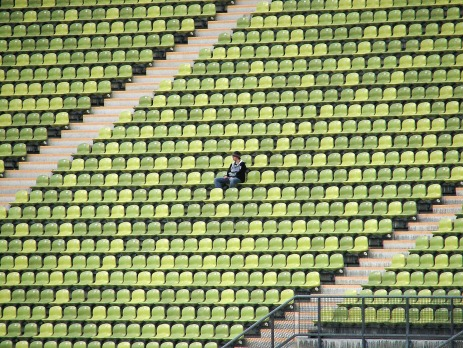 empty stadium, lonely freelancer