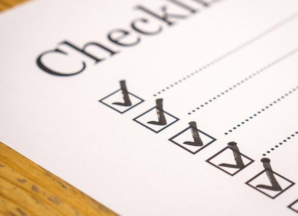 editorial checklist
