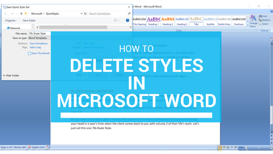 How to Delete Styles in Microsoft Word
