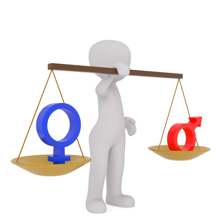 gender pay equality, scales of judgement