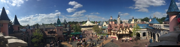 Panoramic from the Disney Castle, Paris