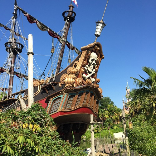 Pirate ship by Pirates of the Caribbean ride