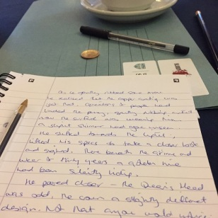 A bit of free writing using touch as a prompt