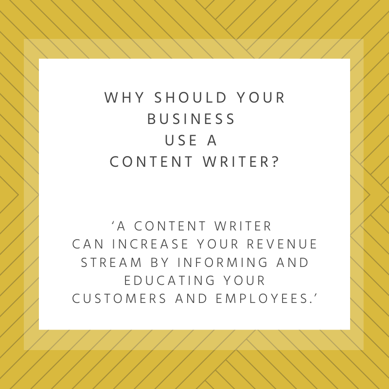 Why should your business use a content writer?