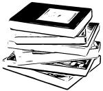 book stack cartoon