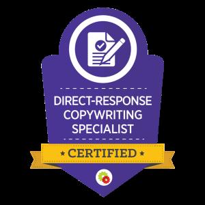 Direct-response copywriting specialist certified logo