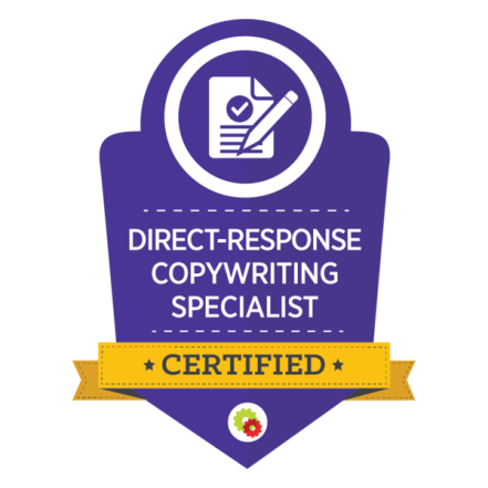 Direct-response copywriting specialist certified logo